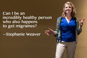 Stephanie Weaver, MPH, CWHC on stage